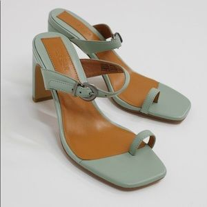 Jaggar the Label Contemporary Heels Mint Leather